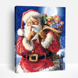 SHHH IT'S SANTA | Paint By Numbers