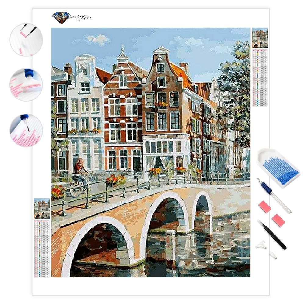 View of Amsterdam Canal | Diamond Painting