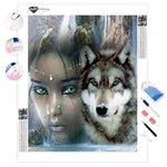 Beauty and the Wolf | Diamond Painting