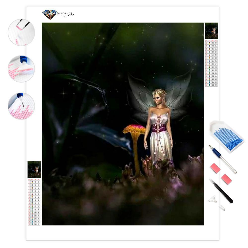 Fairy on the Forest Floor | Diamond Painting