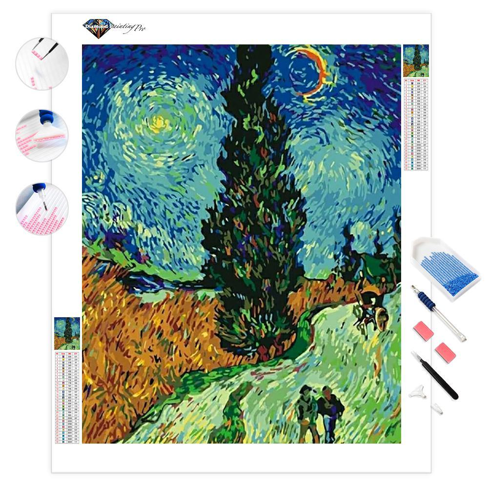 Road with Cypresses | Van Gogh | Diamond Painting