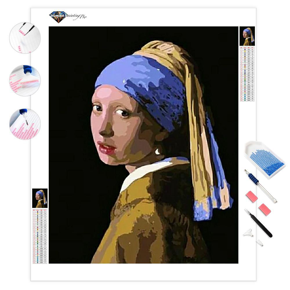 Girl with a Pearl Earring | Johannes Vermeer | Diamond Painting