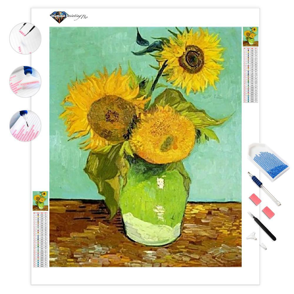 Sunflowers | Van Gogh | Diamond Painting