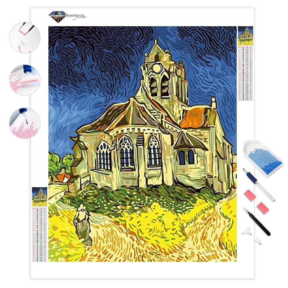 Church at Auvers | Van Gogh | Diamond Painting