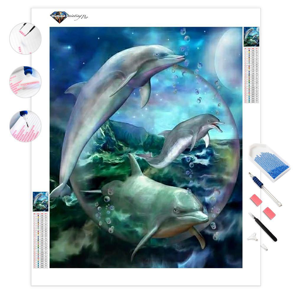 Three Dolphins | Diamond Painting