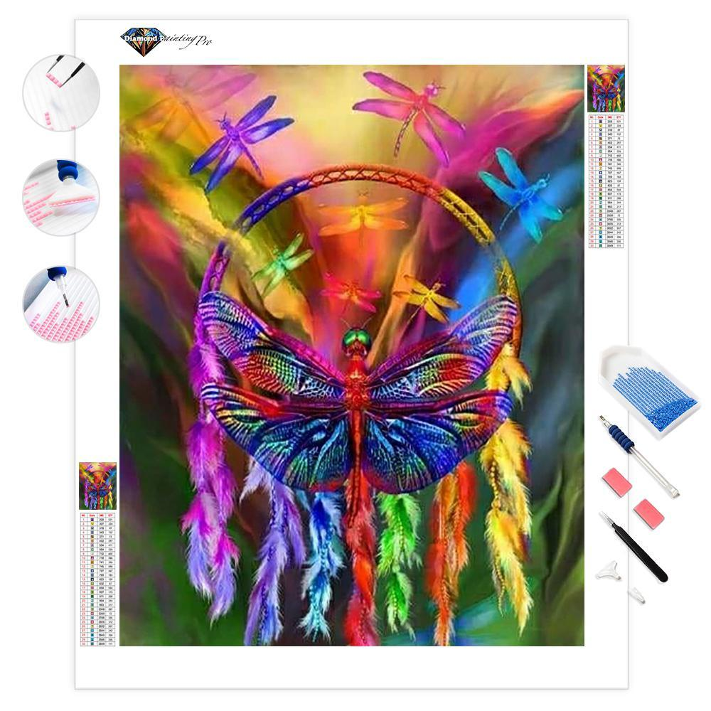 Rainbow Dragonfly | Diamond Painting