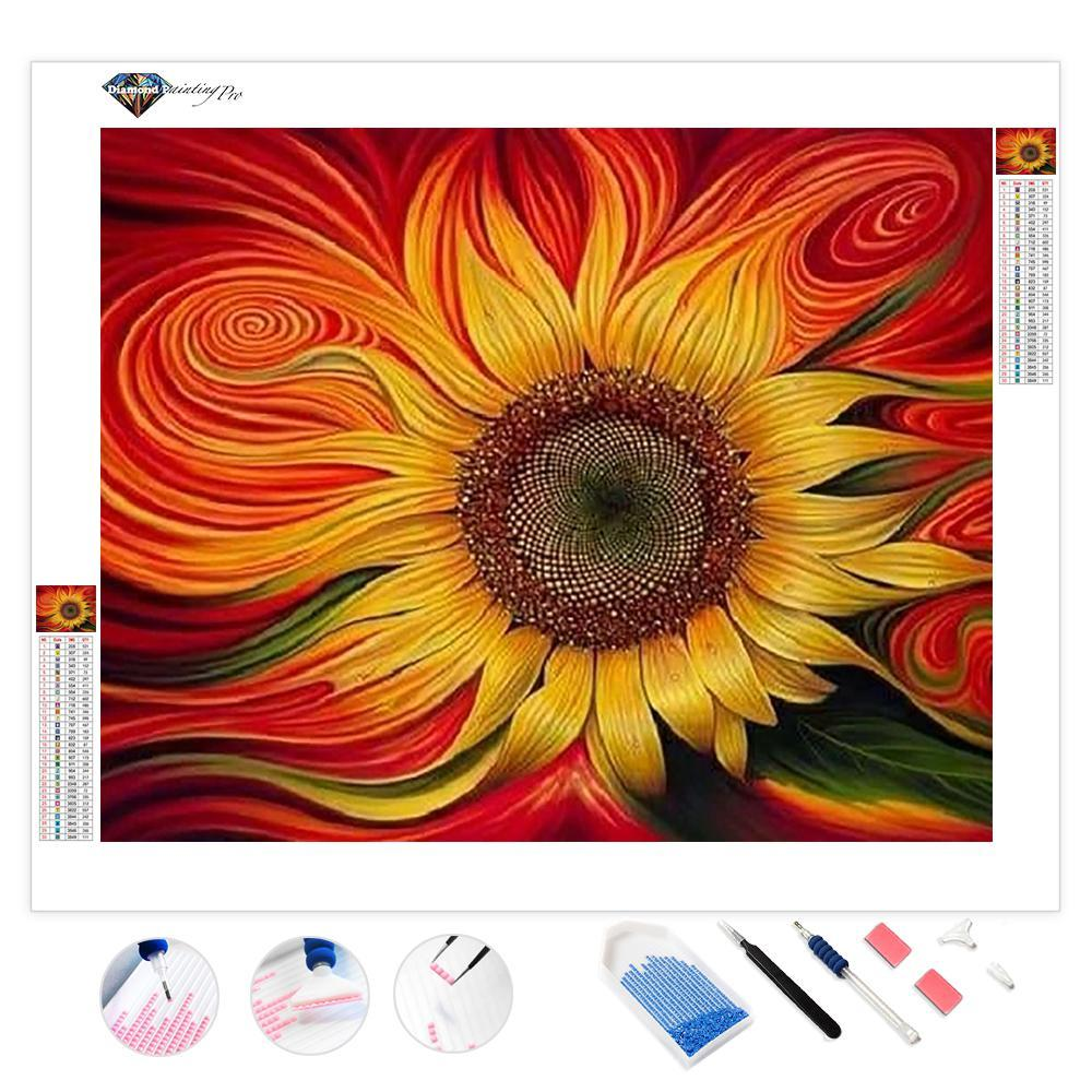 Warped Sunflower | Diamond Painting