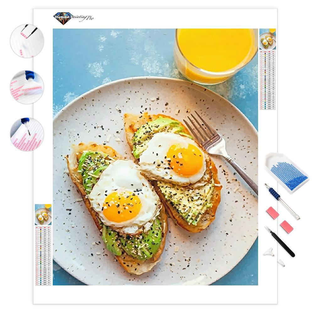 Eggs and Avocado Toast Breakfast | Diamond Painting