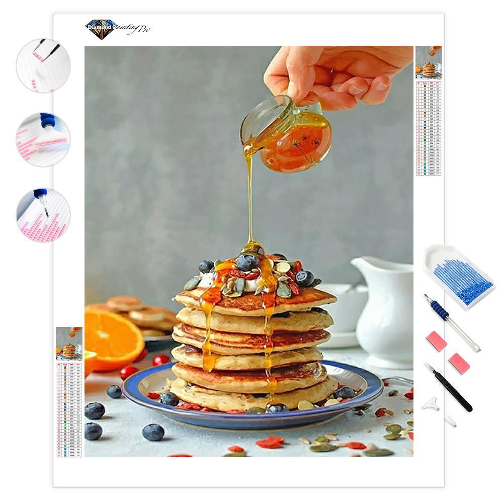 Sweet Pancake with Honey | Diamond Painting