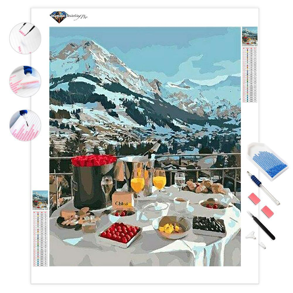 Breakfast in the Alps Mountains | Diamond Painting