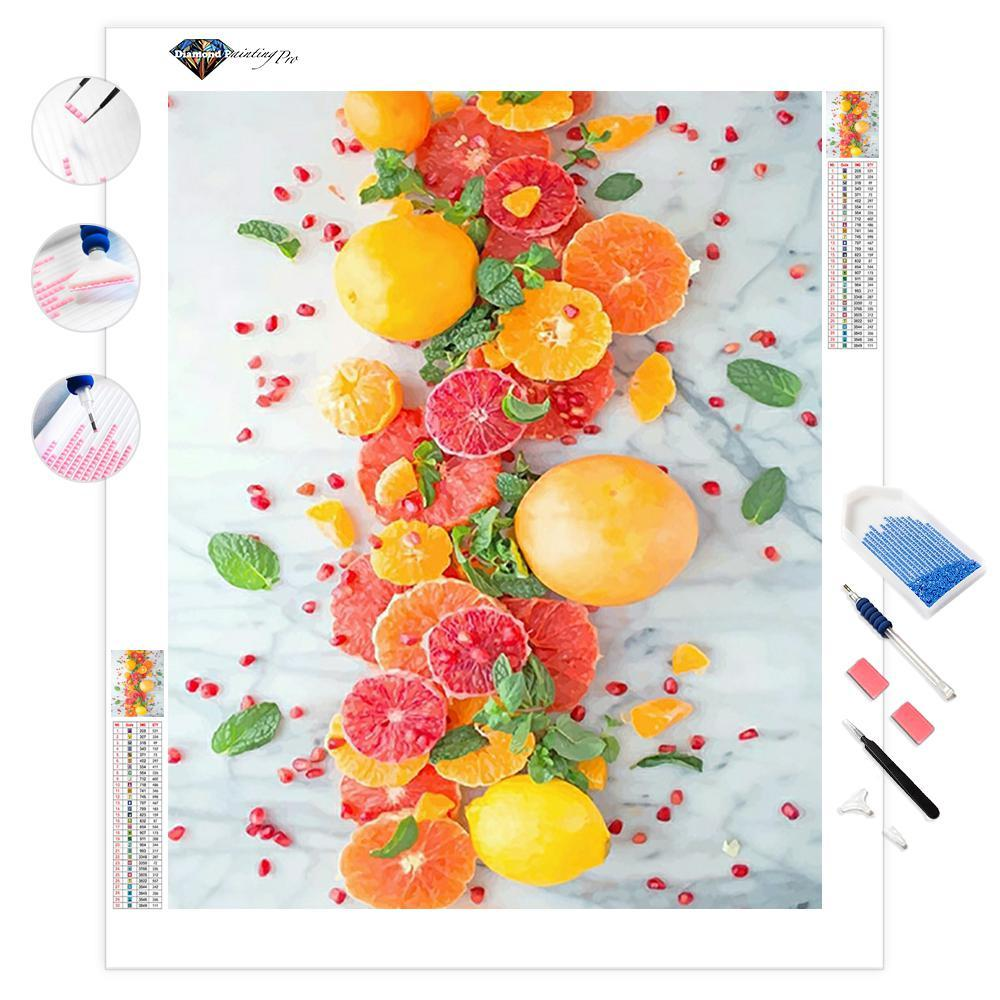 Citrus Pomegranate Salad | Diamond Painting