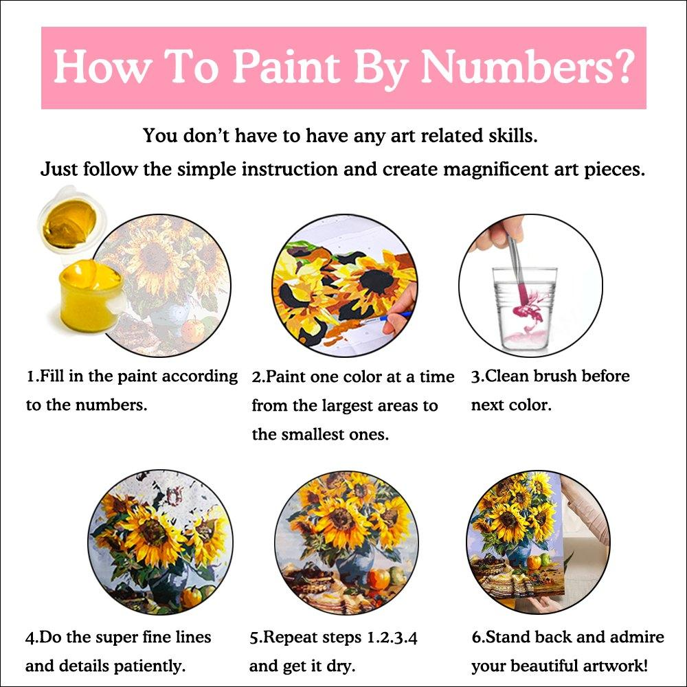 SunFlower Bouquet | Paint By Numbers