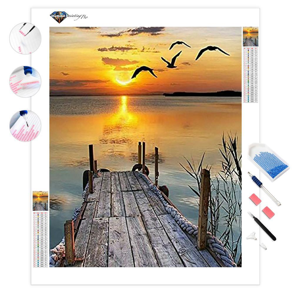 Lake Sunset | Diamond Painting
