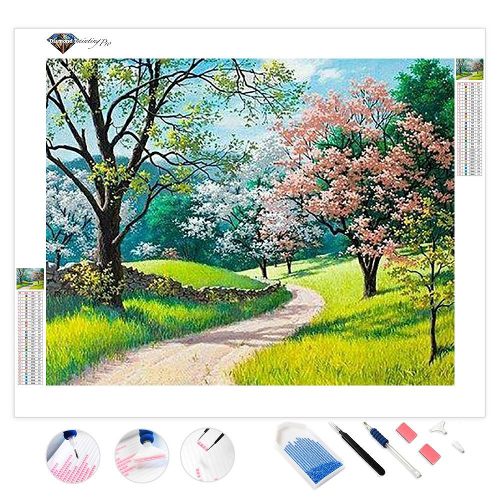 Flowers Bloom in Spring | Diamond Painting