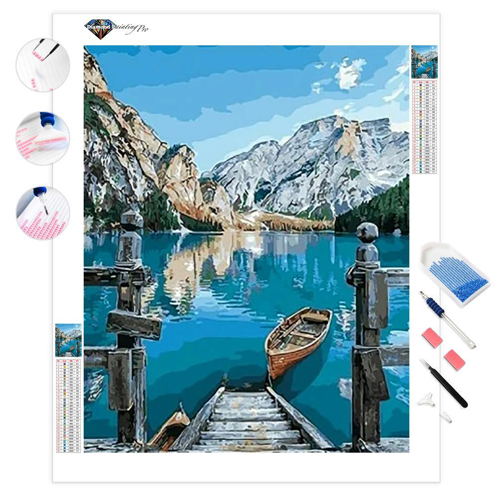Boat on the Lake | Diamond Painting
