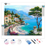 Mediterranean Seaside | Diamond Painting