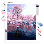 Reflection of Pink Woods | Diamond Painting