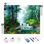 Small Waterfall | Diamond Painting