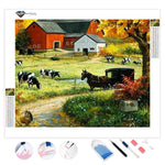 Thriving Cows Farmhouse | Diamond Painting