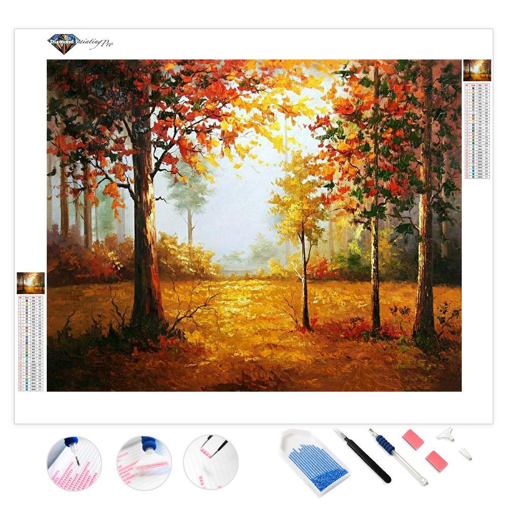 A Forest in the Fall | Diamond Painting