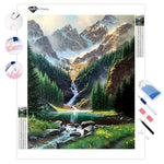 Rocky Mountain Waterfall | Diamond Painting