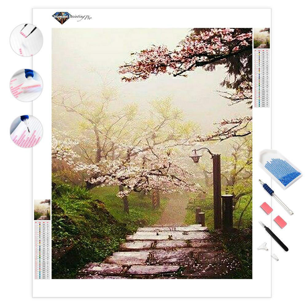 Japanese Cherry Blossom Garden | Diamond Painting
