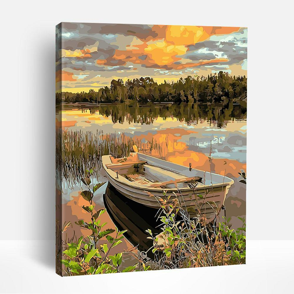 Lakeside Boat | Paint By Numbers