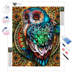Mandala Berry Branch Owl | Diamond Painting