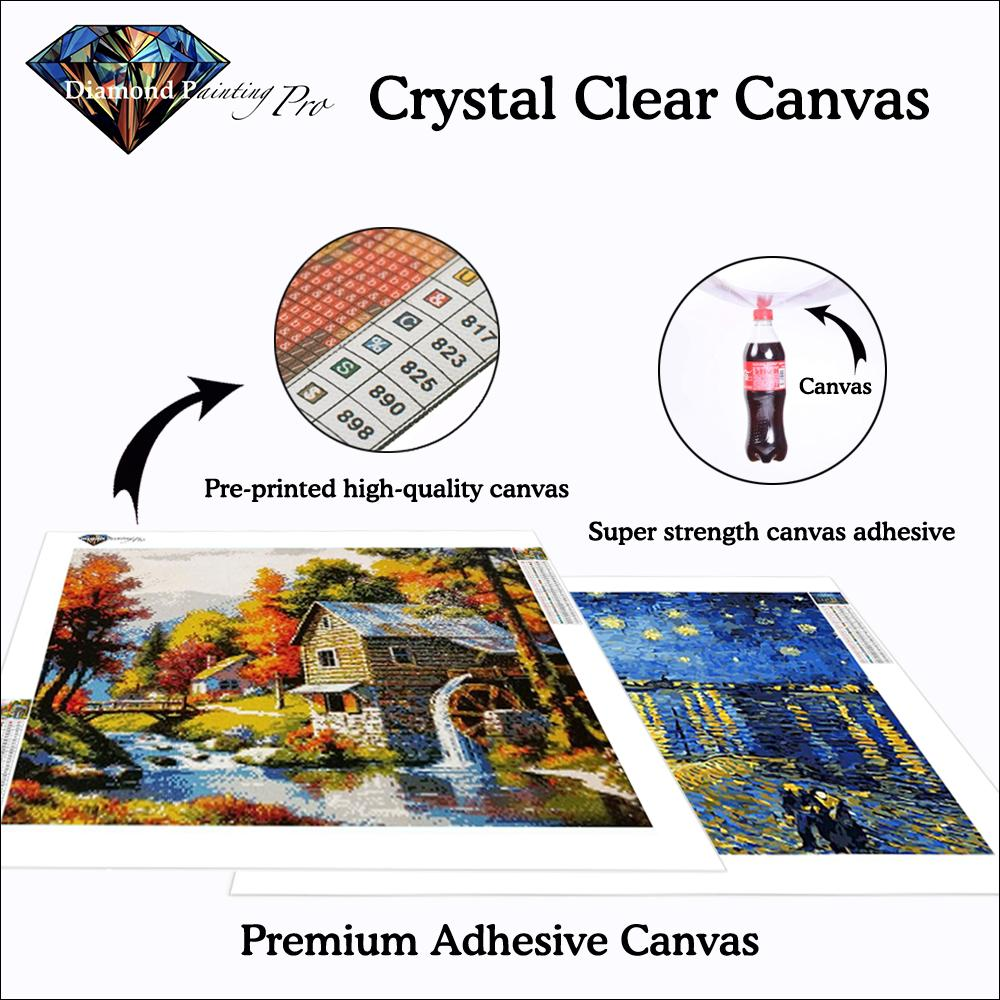 crystal clear canvas of custom diamond painting