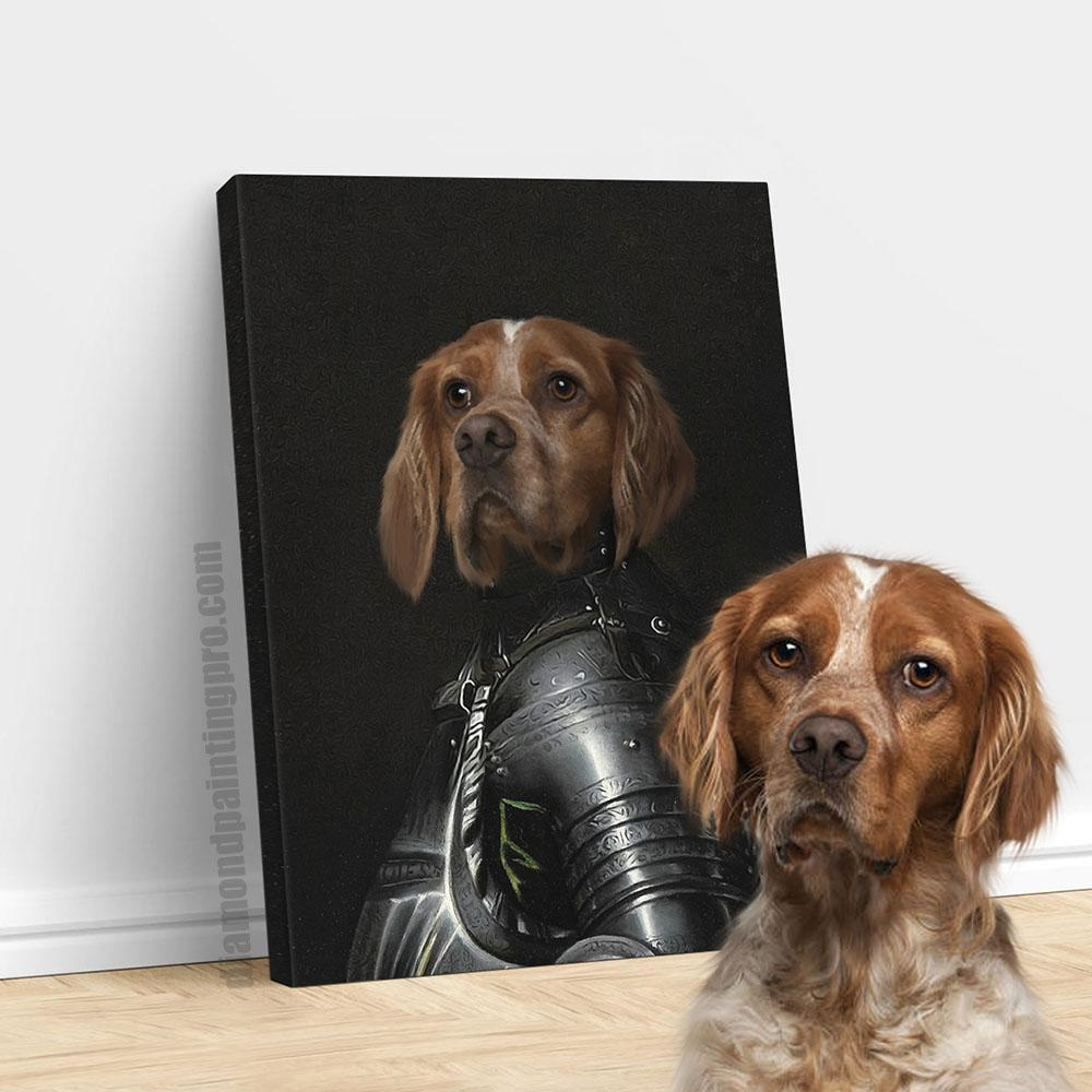 The Black Knight | Renaissance Pet Portrait