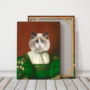 The Lady in Green | Renaissance Pet Portrait