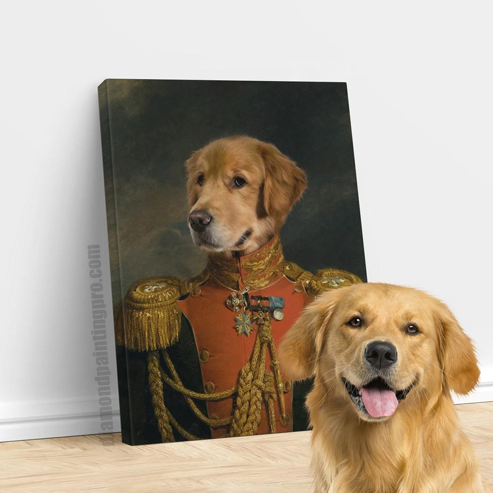 The Red General | Renaissance Pet Portrait