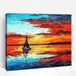 Sailboat on Sunset | Paint By Numbers