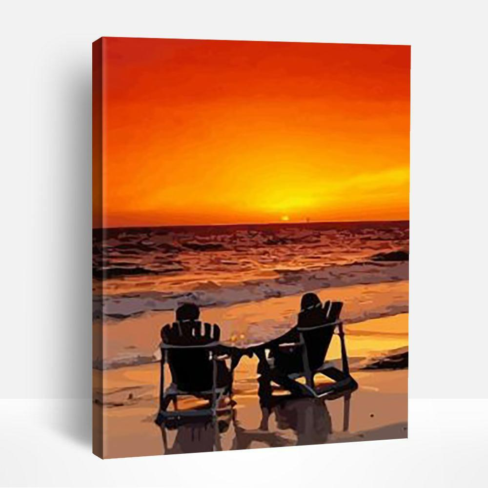 Romantic Beach And Sunset | Paint By Numbers