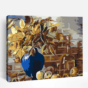 Blue Vase And Apples | Paint By Numbers