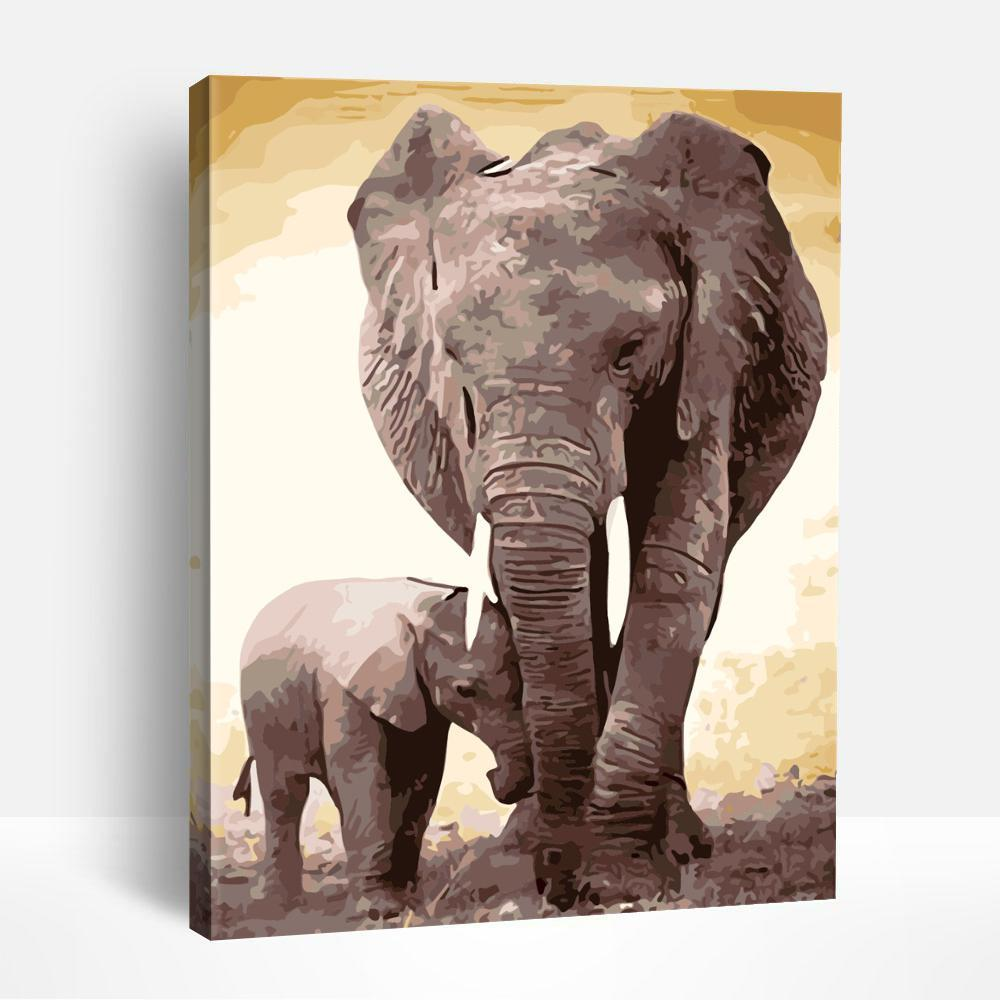 African Elephants | Paint By Numbers