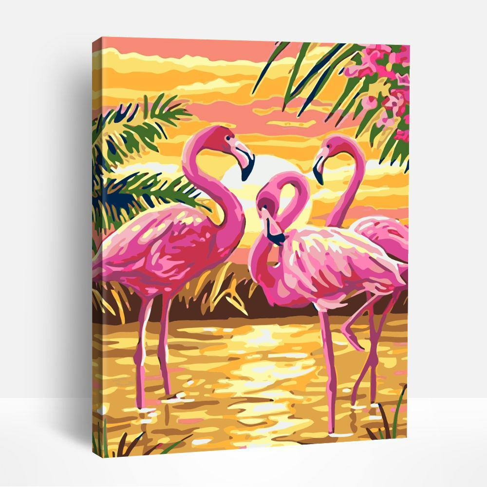 Greater flamingo in Swamp | Paint By Numbers