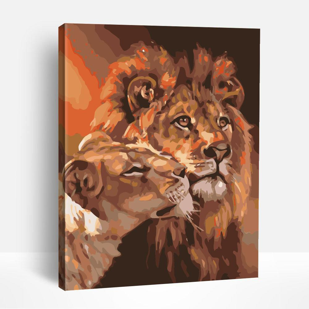 Lion Couple | Paint By Numbers