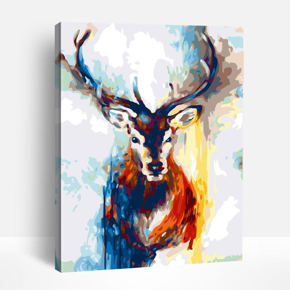 Splatter Deer | Paint By Numbers