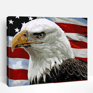Flag American Eagle | Paint By Numbers