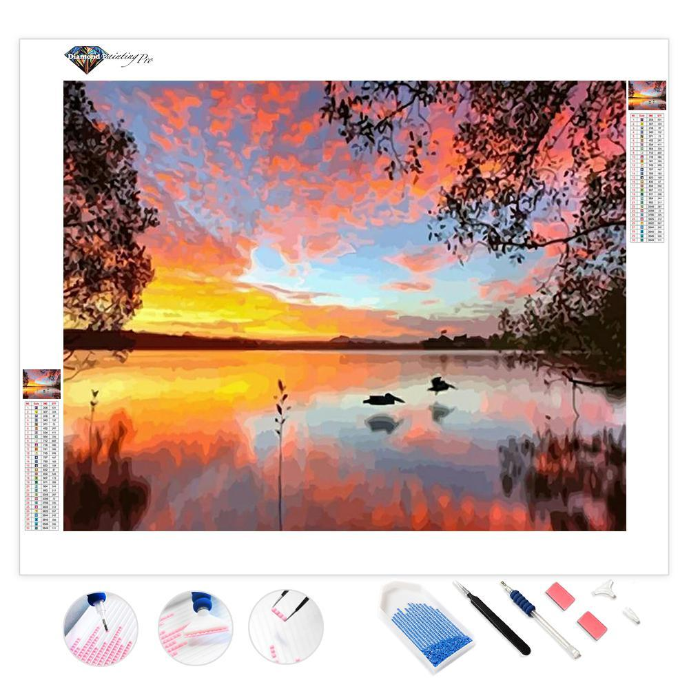 Sunset on the Lake | Diamond Painting