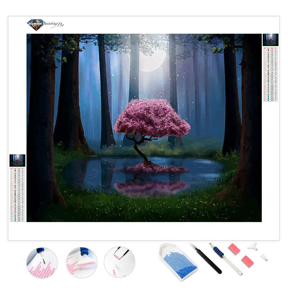 Forest Pink Tree | Diamond Painting