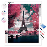 Pink Parisian Trees | Diamond Painting