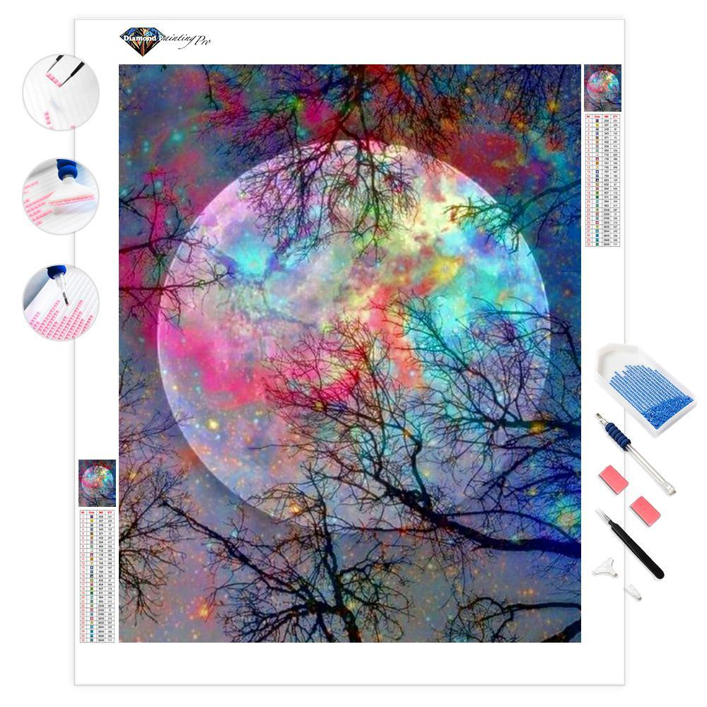 Psychedelic Moon | Diamond Painting