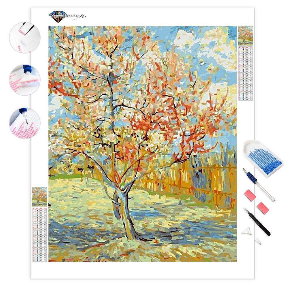 Pink Peach Trees - Van Gogh | Diamond Painting
