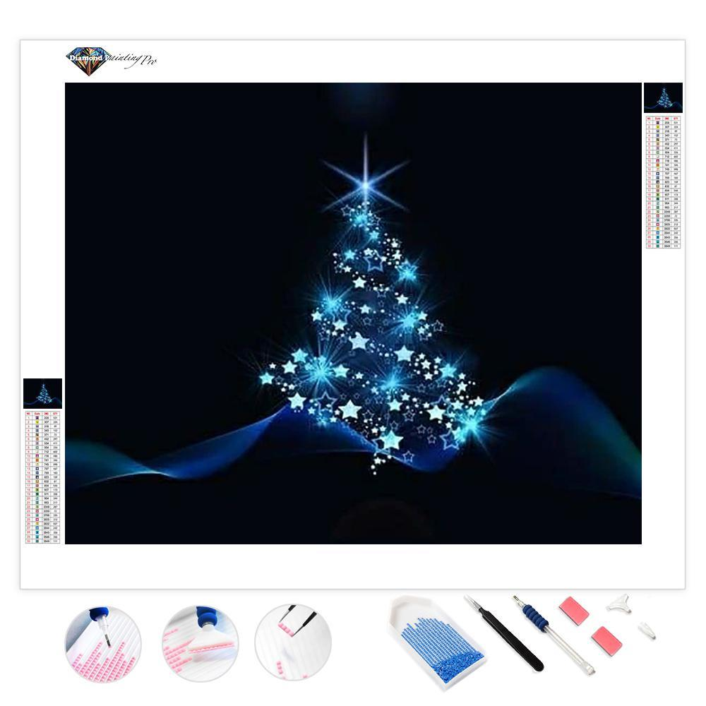 Illuminated Christmas Tree | Diamond Painting