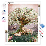 Unicorn Rose Tree | Diamond Painting