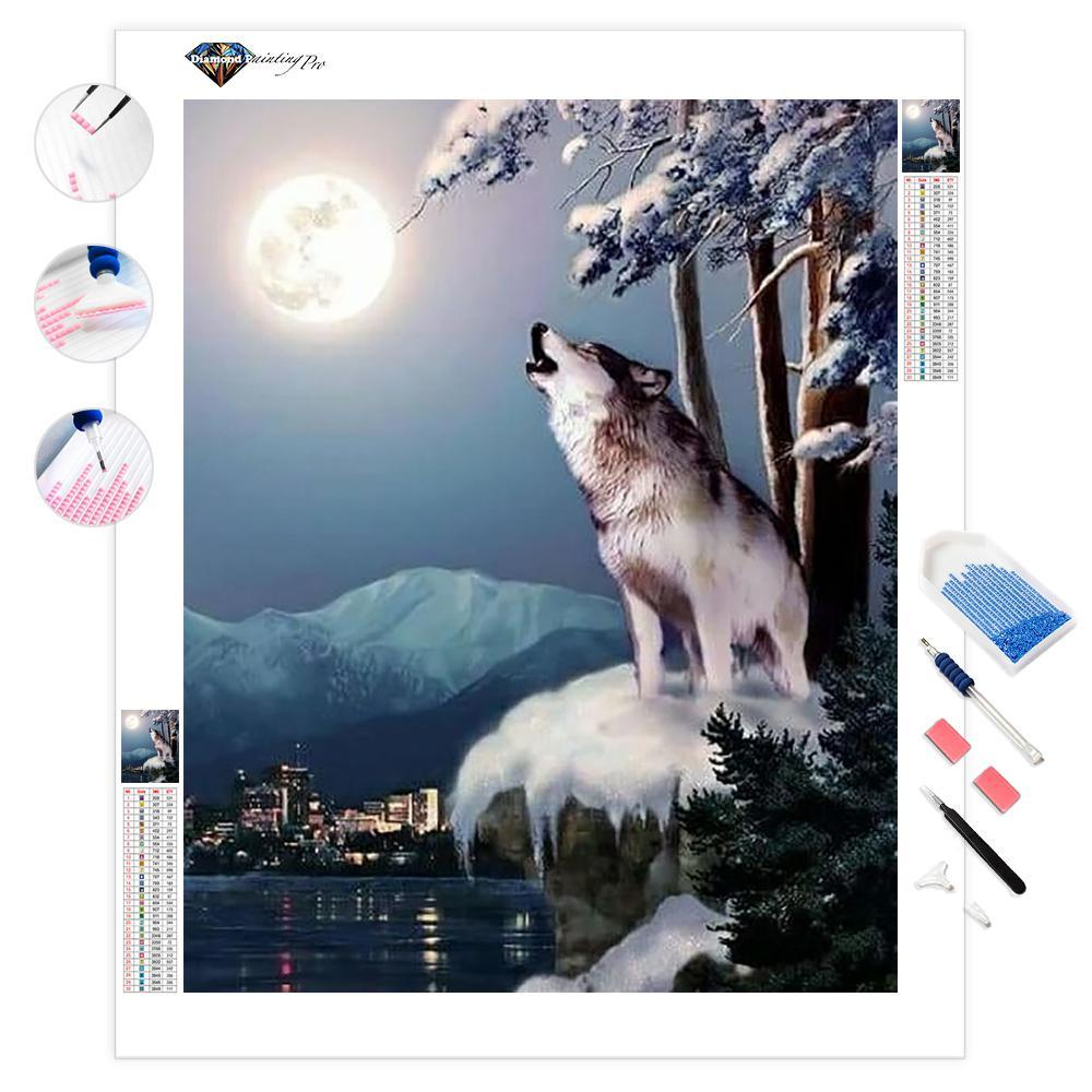 Wolf on the Doorstep of Civilization | Diamond Painting