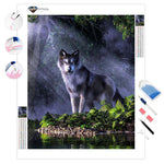 Wolf in the Forest | Diamond Painting