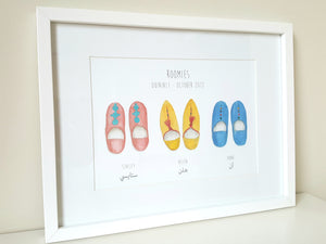 Personalised Arabic Babouche Print - Choose your slippers and wording